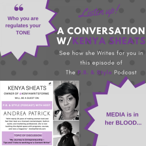 Content Writing with Kenya Sheats